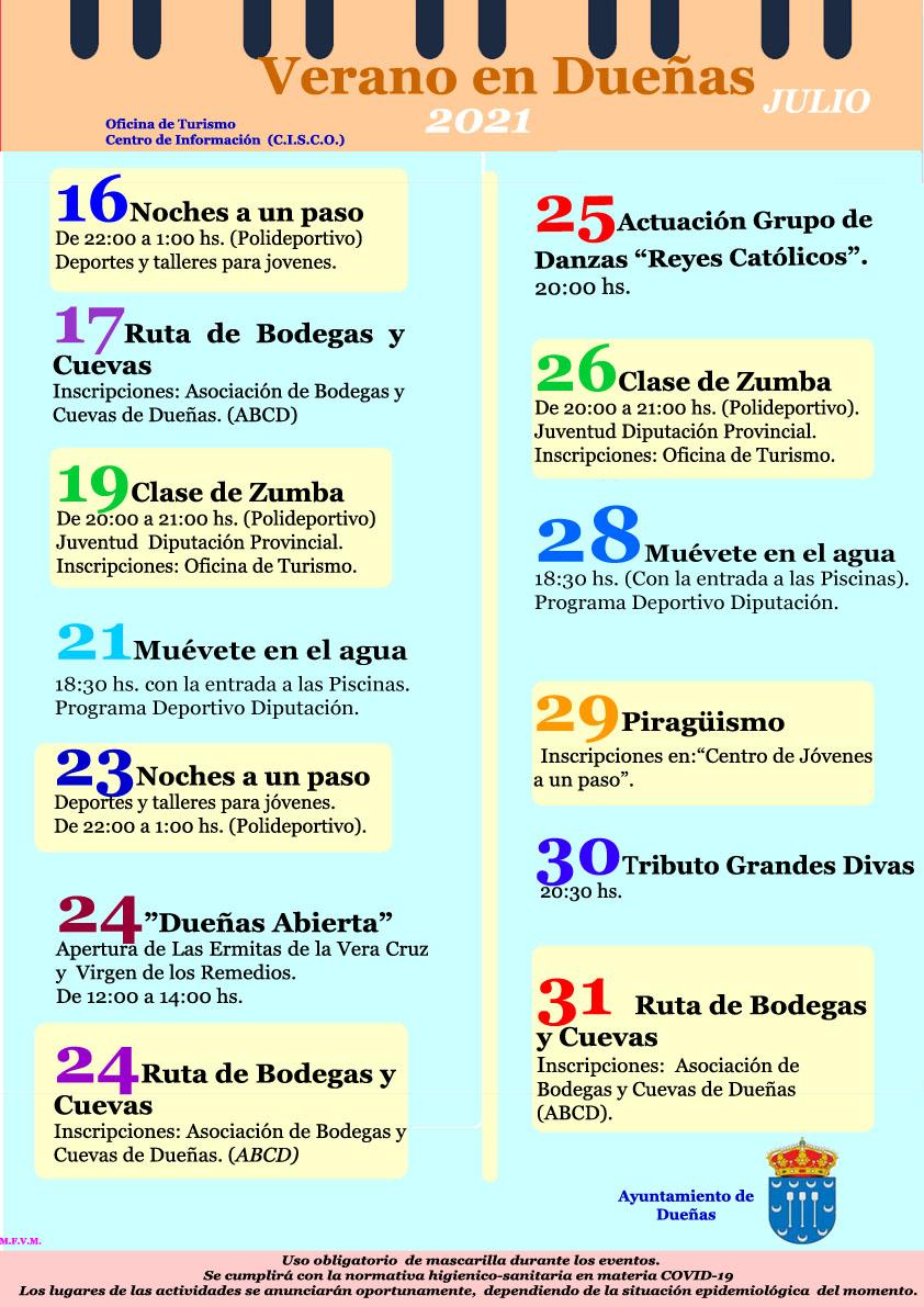 Verano 2021: Eventos y actividades al aire libre en Dueñas.